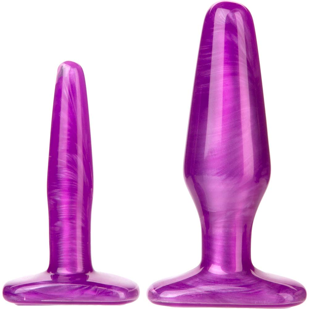 Radiant Gems Anal Trainer Kit with 2 Butt Plugs Purple - View #2