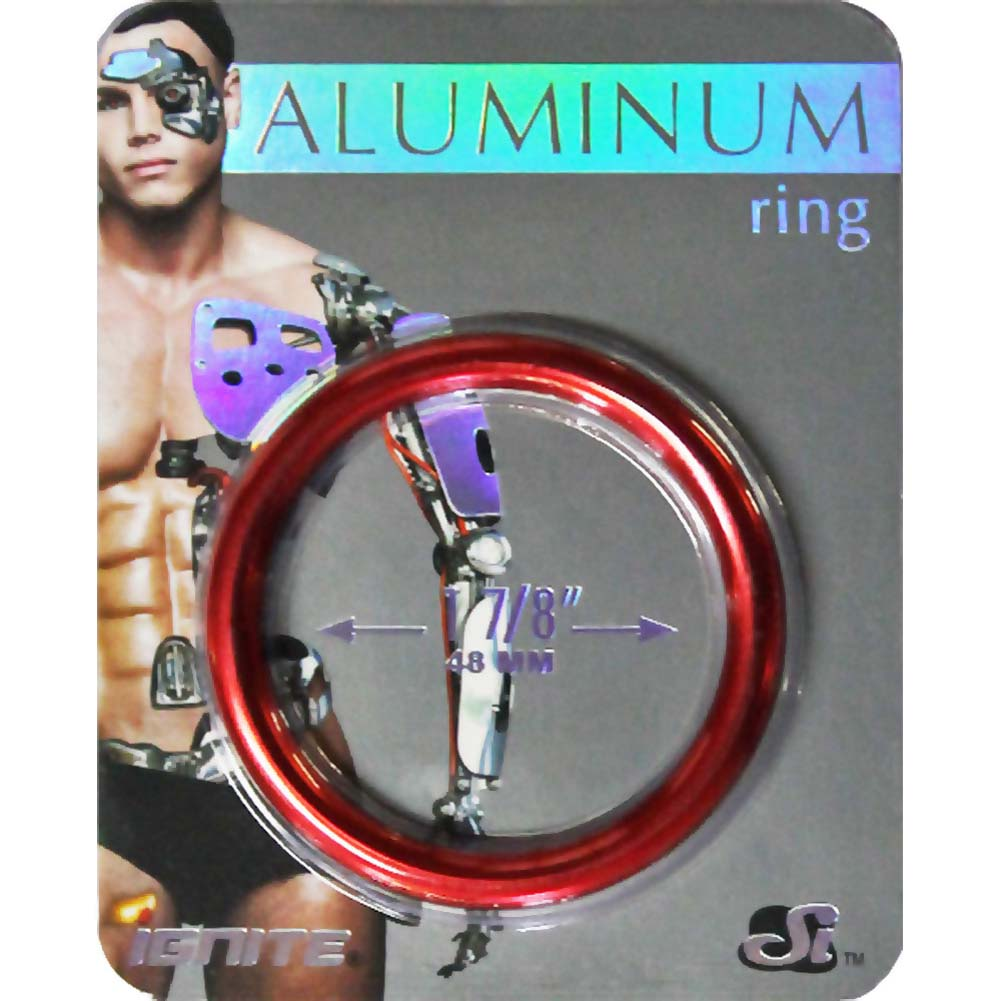"Ignite Anodized Aluminum Cock Ring 1.875"" Hellfire Red - View #1"