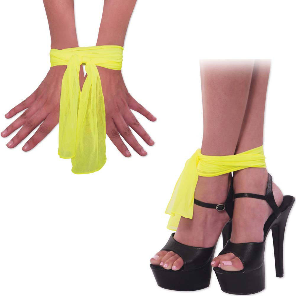 Neon Nylon Love Ties Yellow - View #2