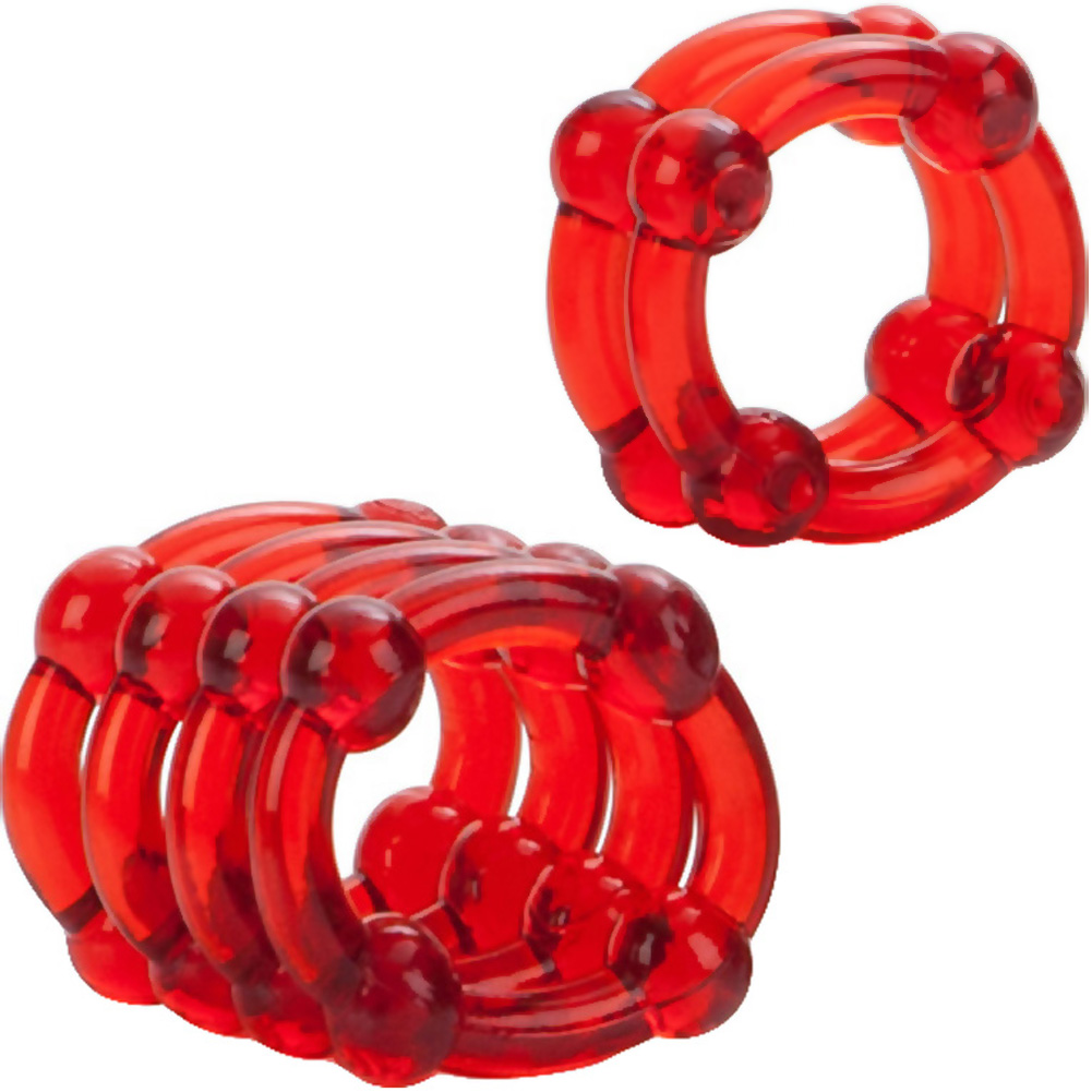 COLT by CalExotics Enhancer Rings Pack of 2 Cock Rings Red - View #1