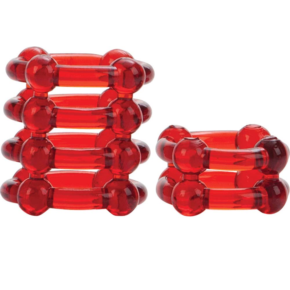 COLT by CalExotics Enhancer Rings Pack of 2 Cock Rings Red - View #3