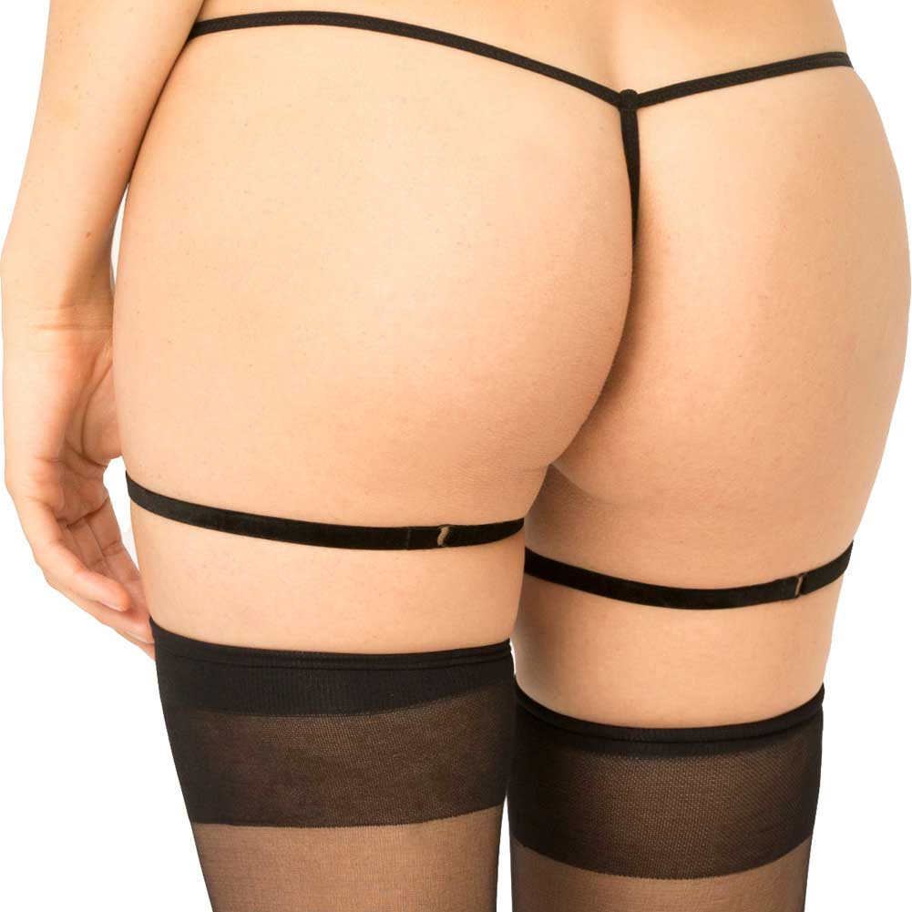 Rene Rofe Simple Sexy Black Garters Small-Medium Black - View #2