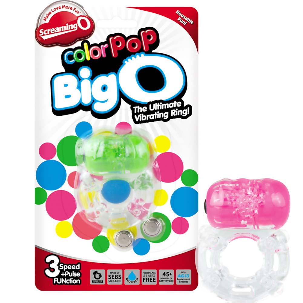 Screaming O ColorPoP Big O Vibrating Ring 6 Count Inner Pack Assorted Colors - View #2