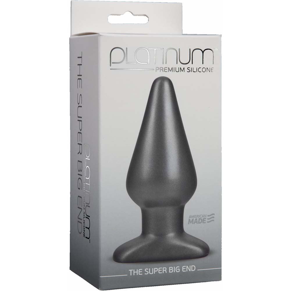 "Platinum Premium Silicone Super Big End Butt Plug 5.5"" Charcoal - View #1"