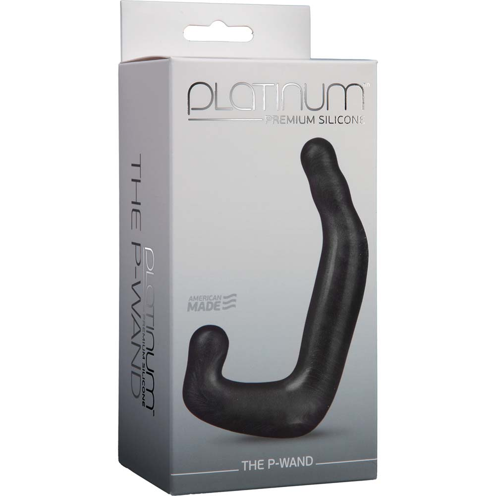 "Platinum Silicone P Wand Prostate Massager 5.5"" Charcoal - View #1"