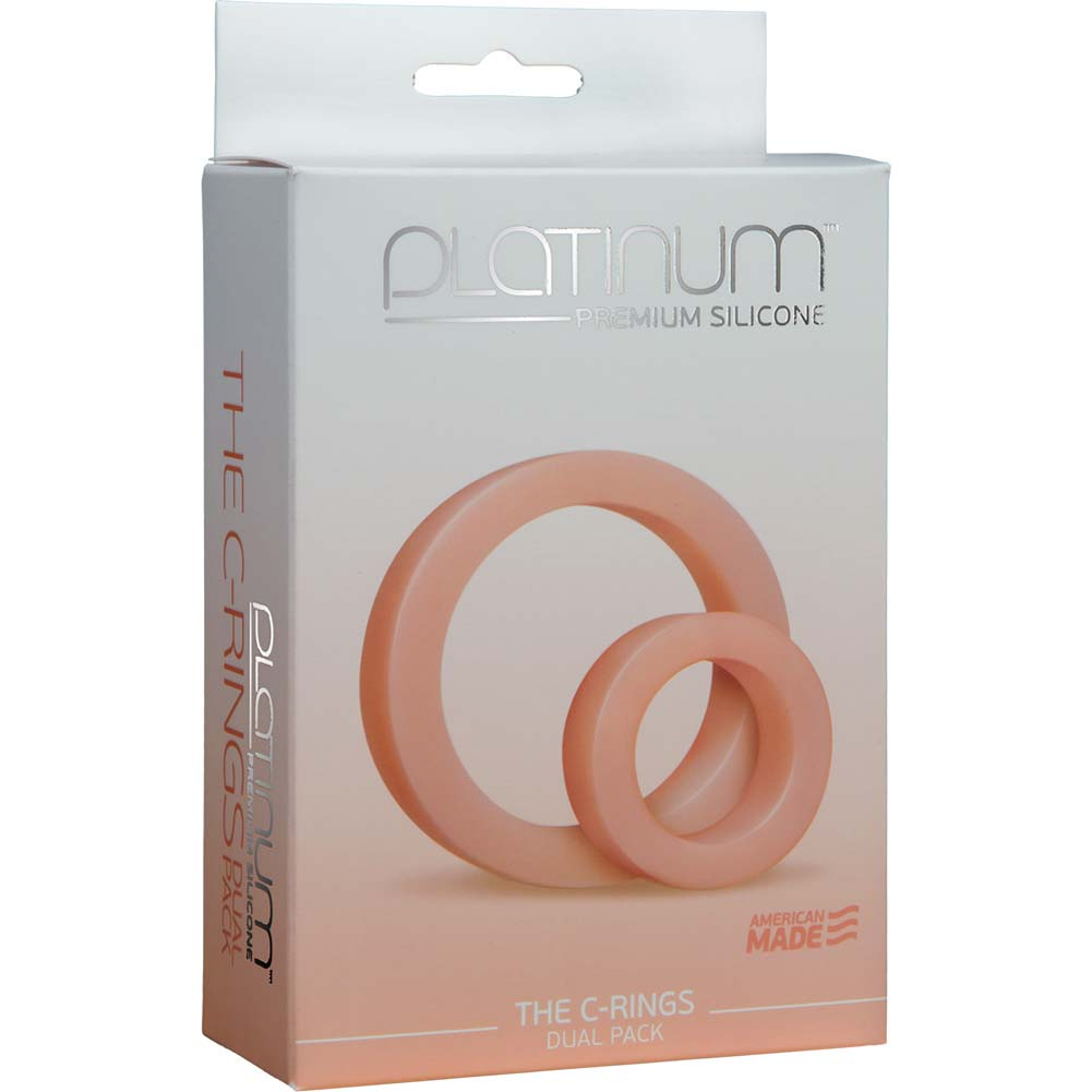 Platinum Premium Silicone C-Rings White - View #2