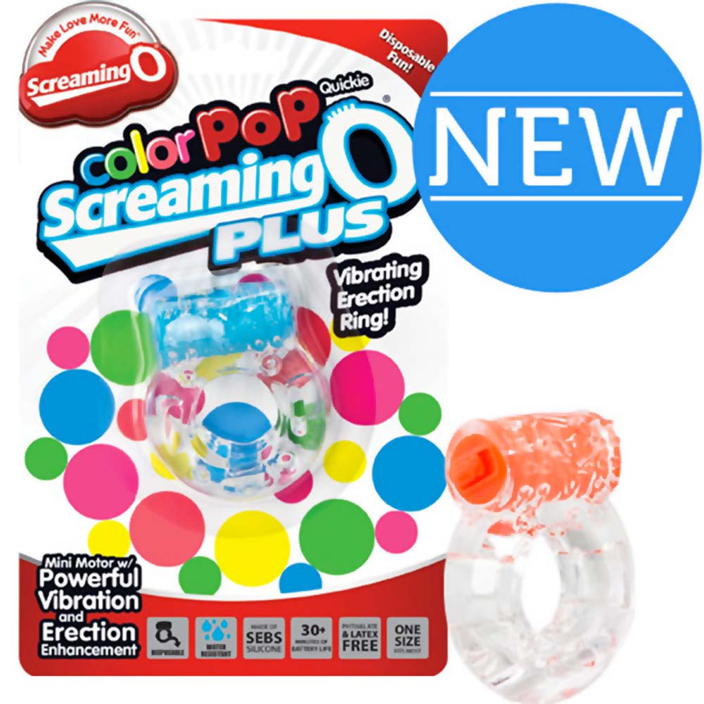Screaming O ColorPoP Quickie Plus Vibrating Ring 12 Count Inner Pack Assorted Colors - View #2