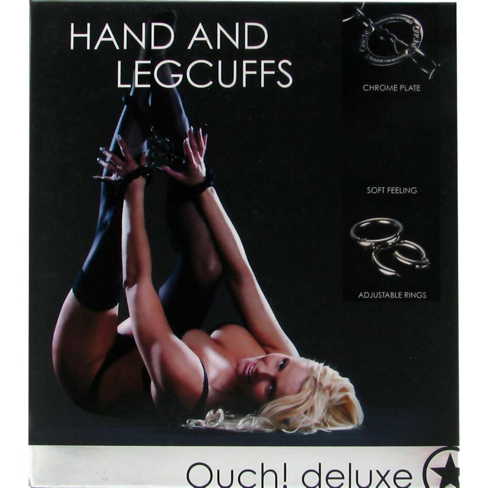 Ouch Hand and Leg Braided Rope Cuffs Black - View #4