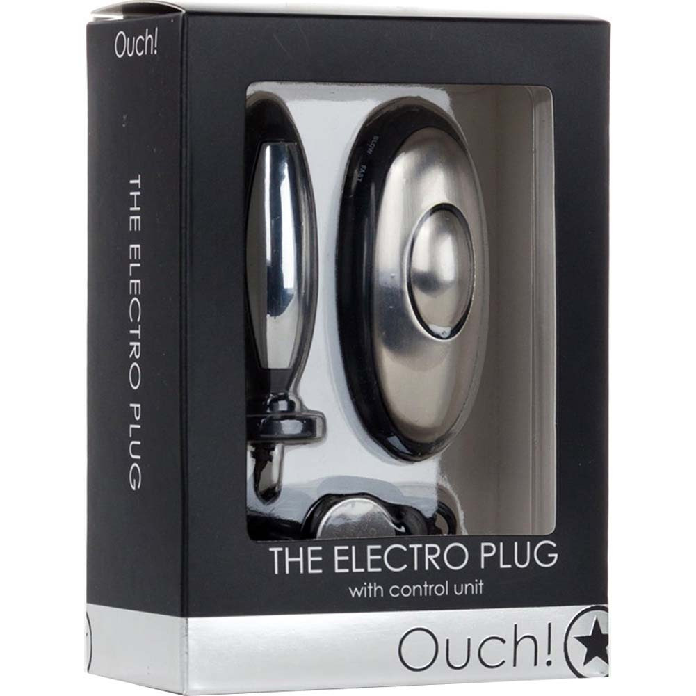 Ouch Electro Plug Electro Stimulation Butt Plug Kit Black - View #1