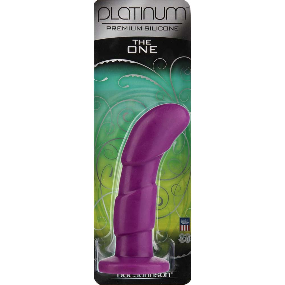 "Platinum Silicone The ONE Curved G-Spot Probe 6"" Purple - View #1"