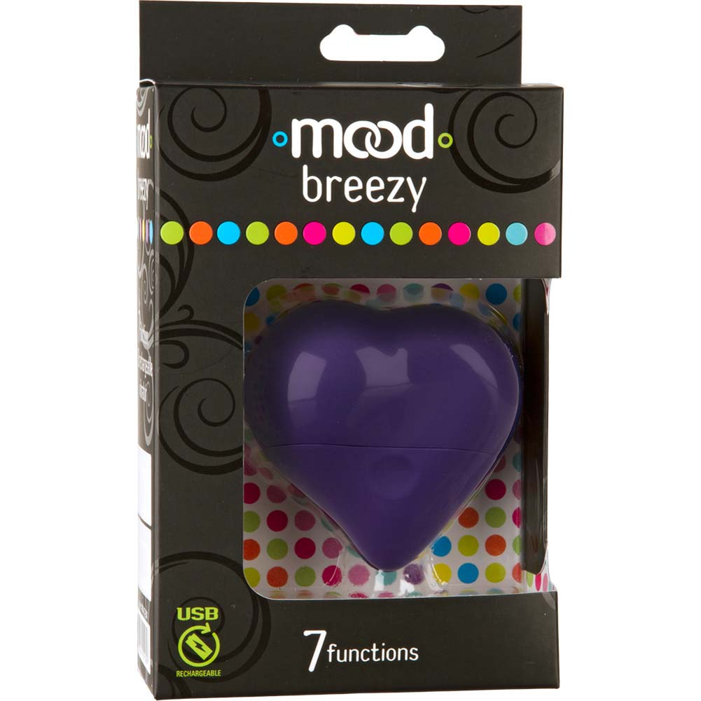 Mood Breezy USB Rechargeable Massager Purple - View #1