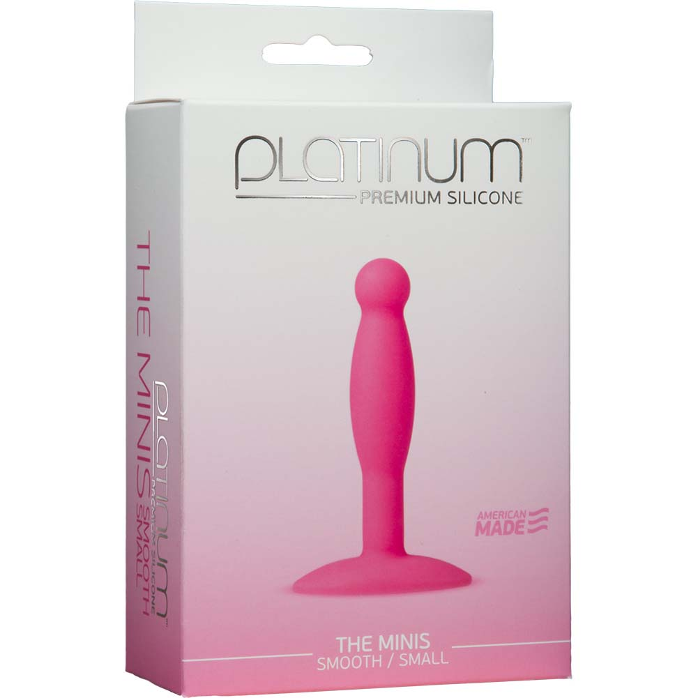 "Platinum Silicone The MINIS Smooth Small Anal Plug 3.5"" Pink - View #1"