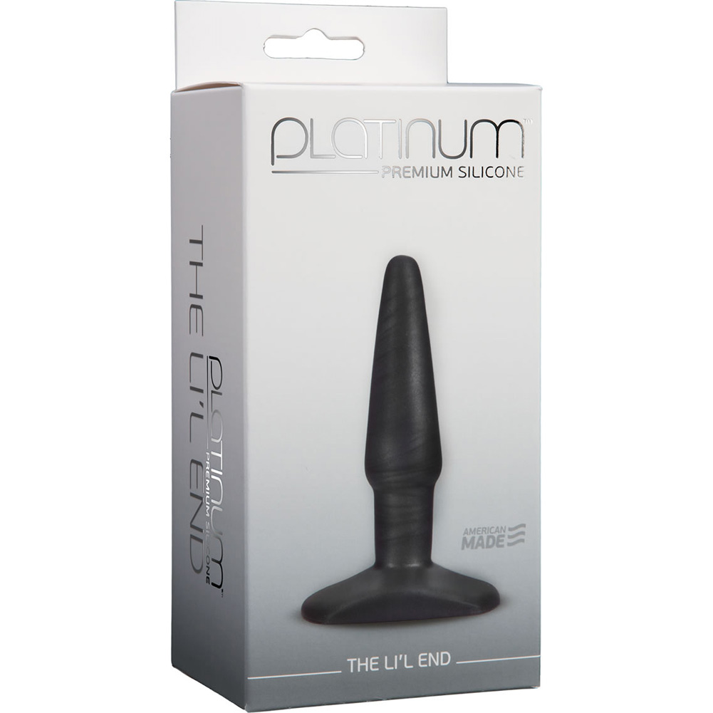 Platinum Premium Silicone The Lil End - Black - View #1