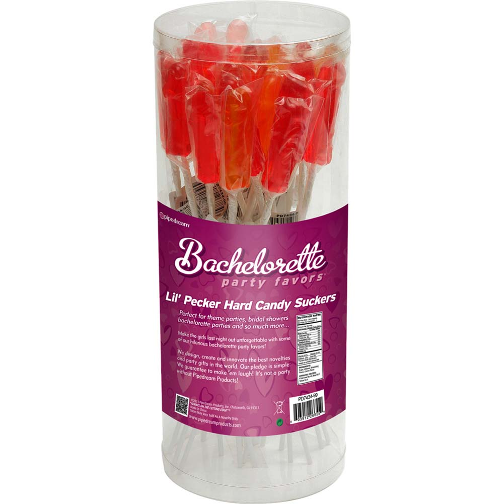 Bachelorette Party Favors Lil Pecker Hard Candy Suckers 24 Pieces Display - View #1