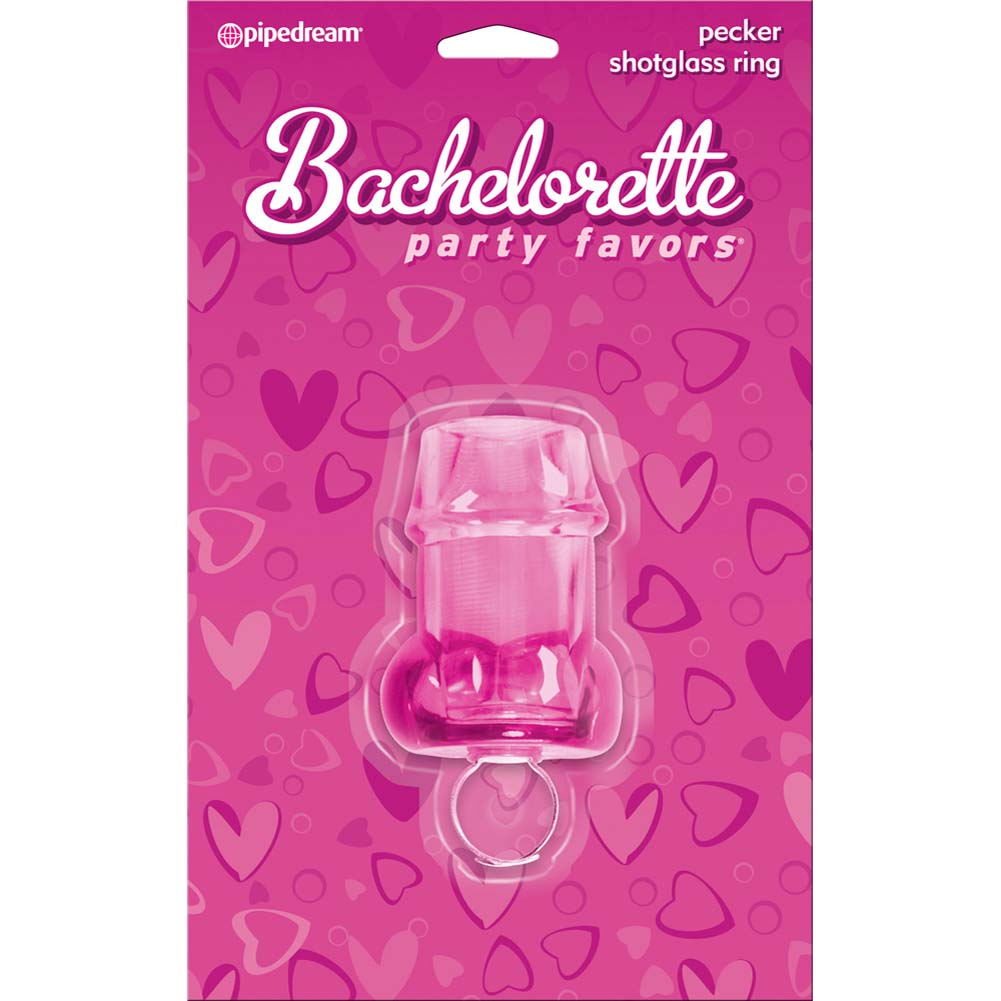Bachelorette Party Pecker Shot Glass Ring Assorted Colors - View #1