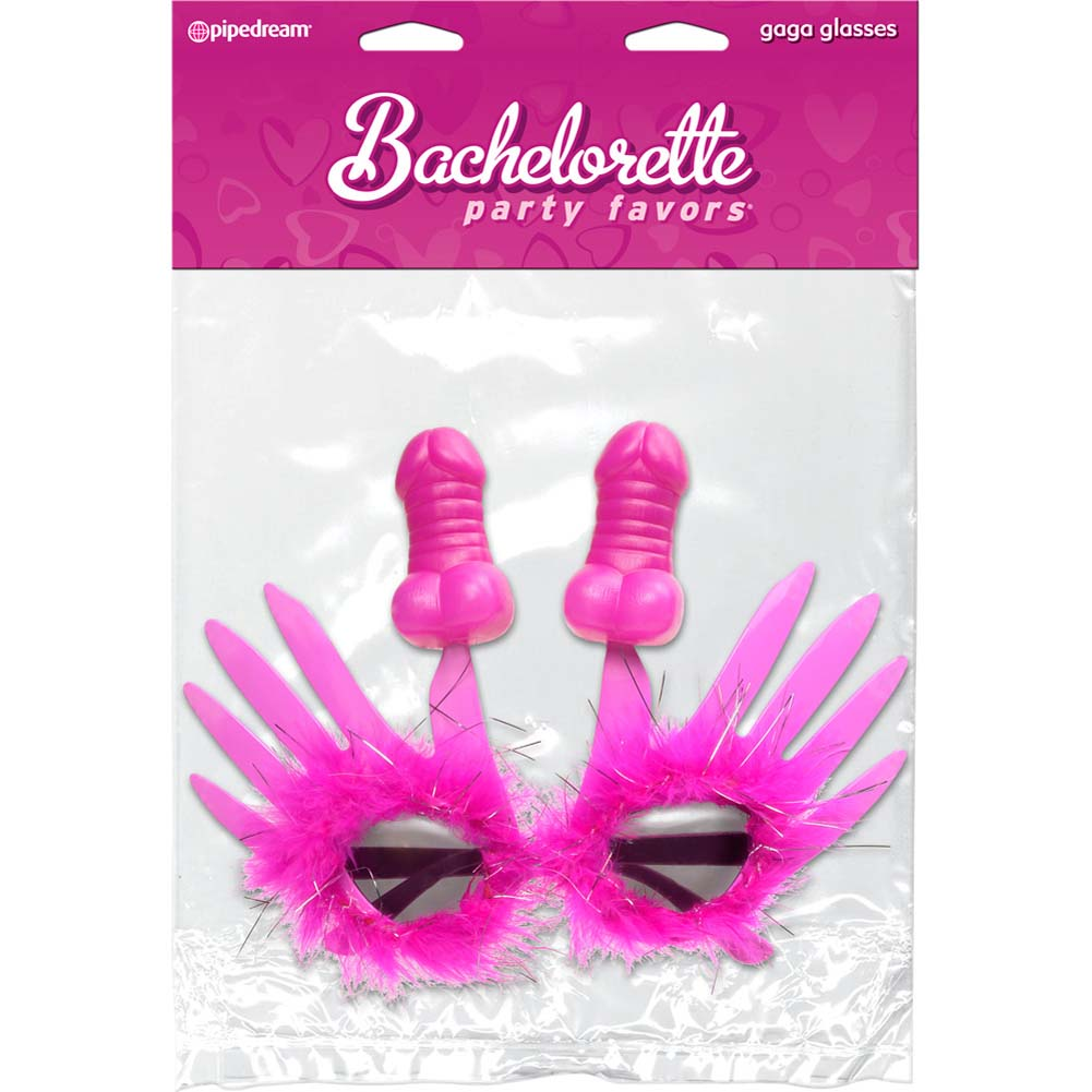 Pipedream Bachelorette Party Favors Gaga Glasses Pink - View #1