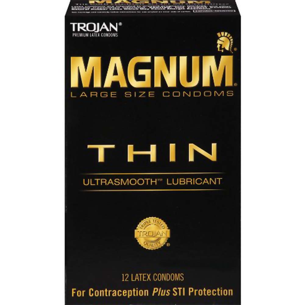Trojan Magnum Thin Large Size Condoms with UltraSmooth Lubricant 12 Pack - View #1