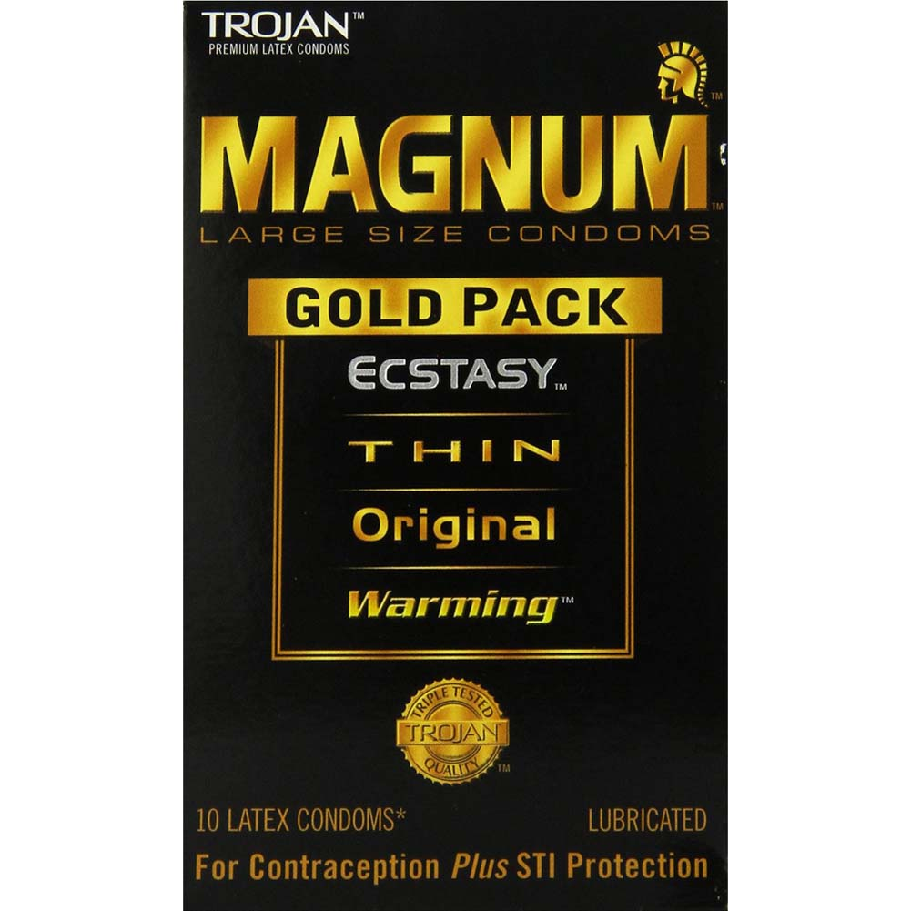 Trojan Magnum Gold Collection Latex Lubricated Condoms 10 Pack - View #1