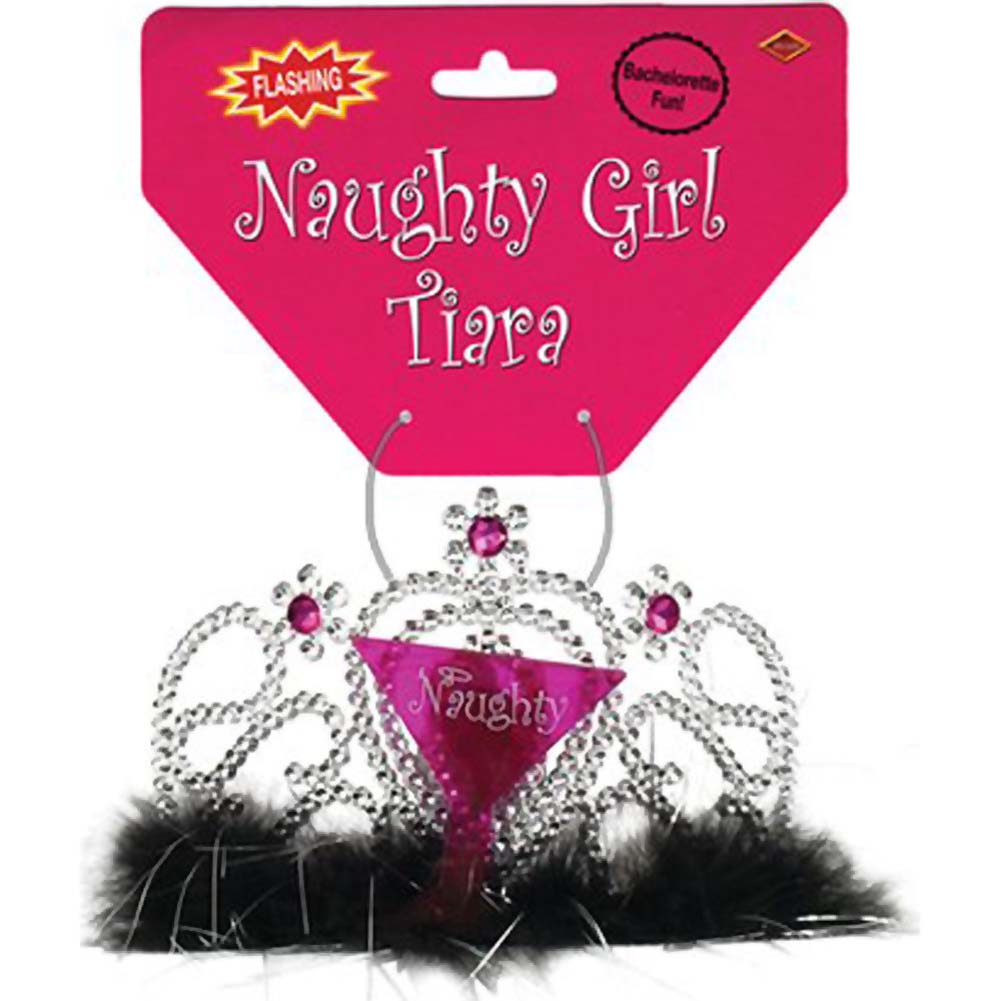 Bachelorette Party Naughty Girl Light Up Tiara - View #1