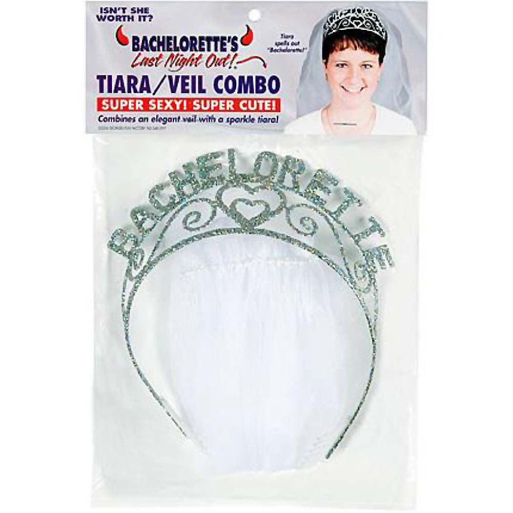 Bachelorette Party Sparkle Tiara/Veil - View #4