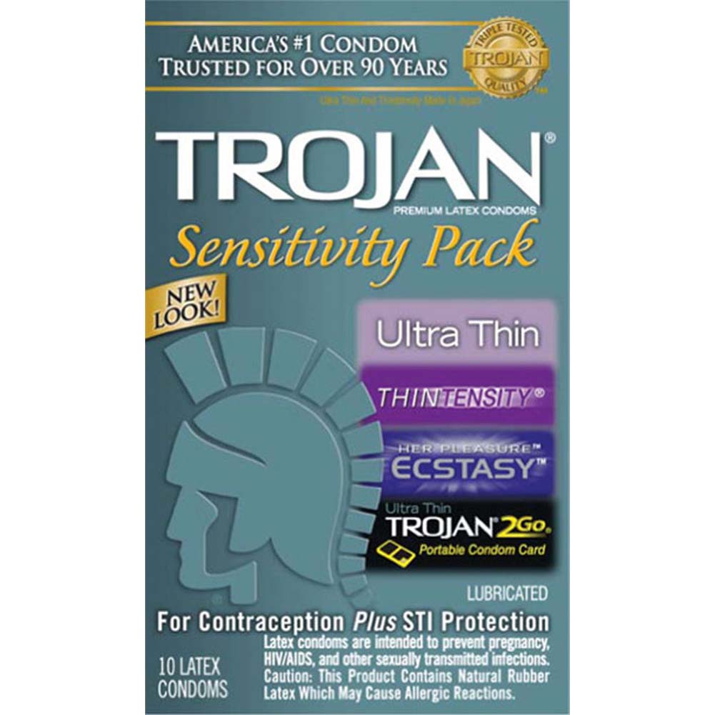 Trojan Sensitivity Pack 10 Condoms - View #1