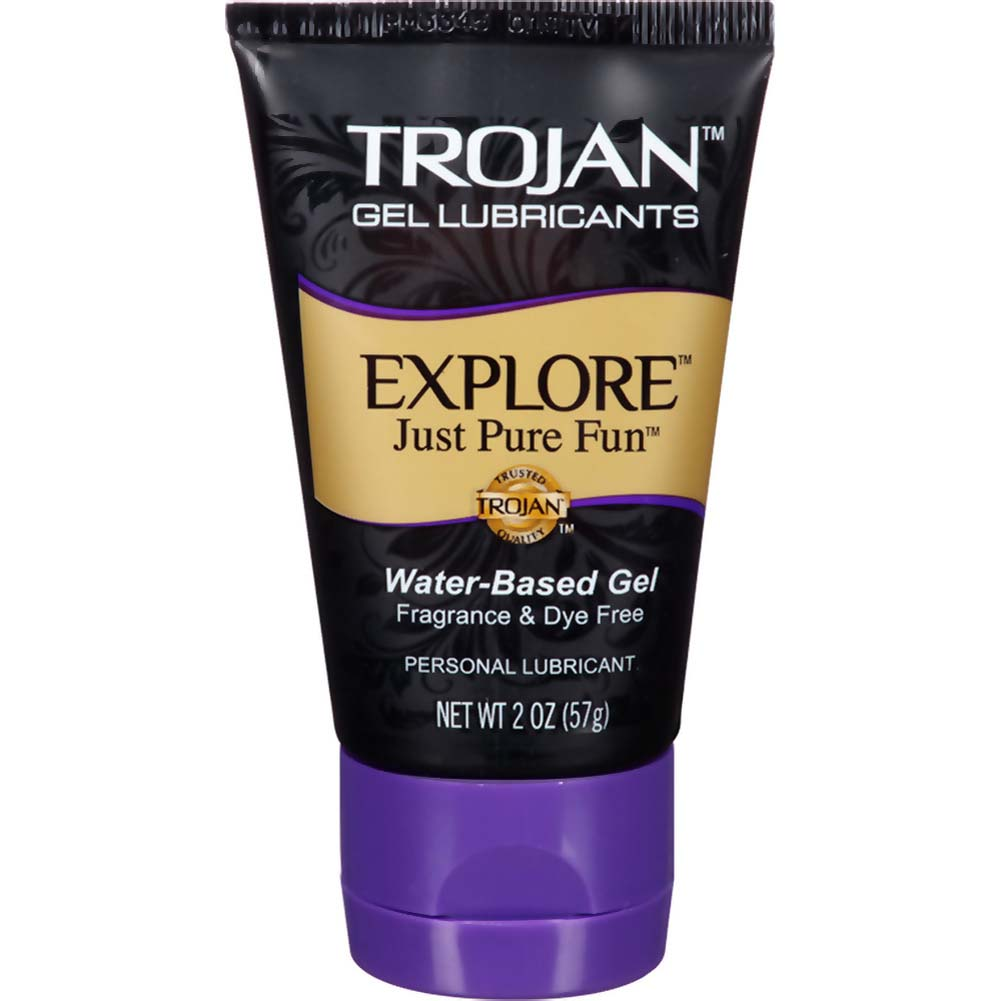 Trojan Explore Water-Based Lubricant Gel 2 Oz. - View #1