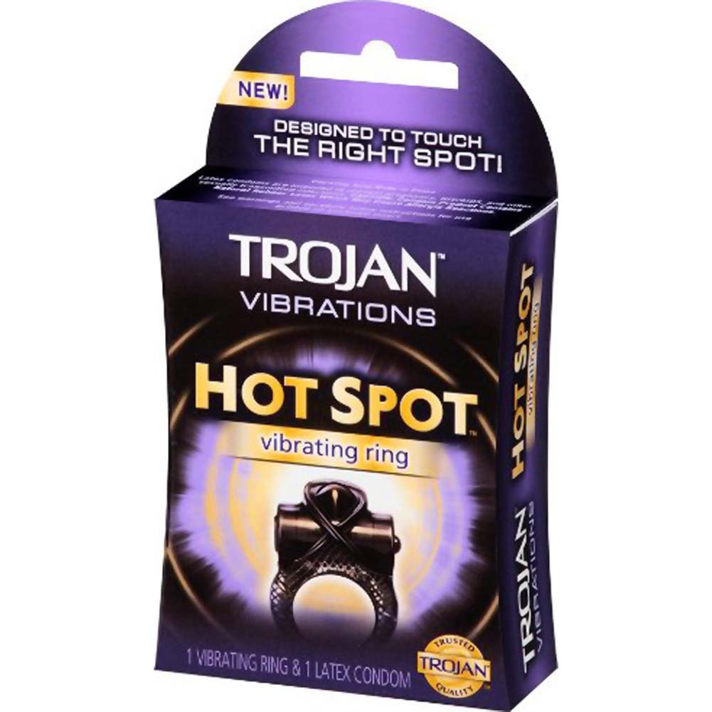 Trojan Hot Spot Vibrating Ring with Condom - View #3