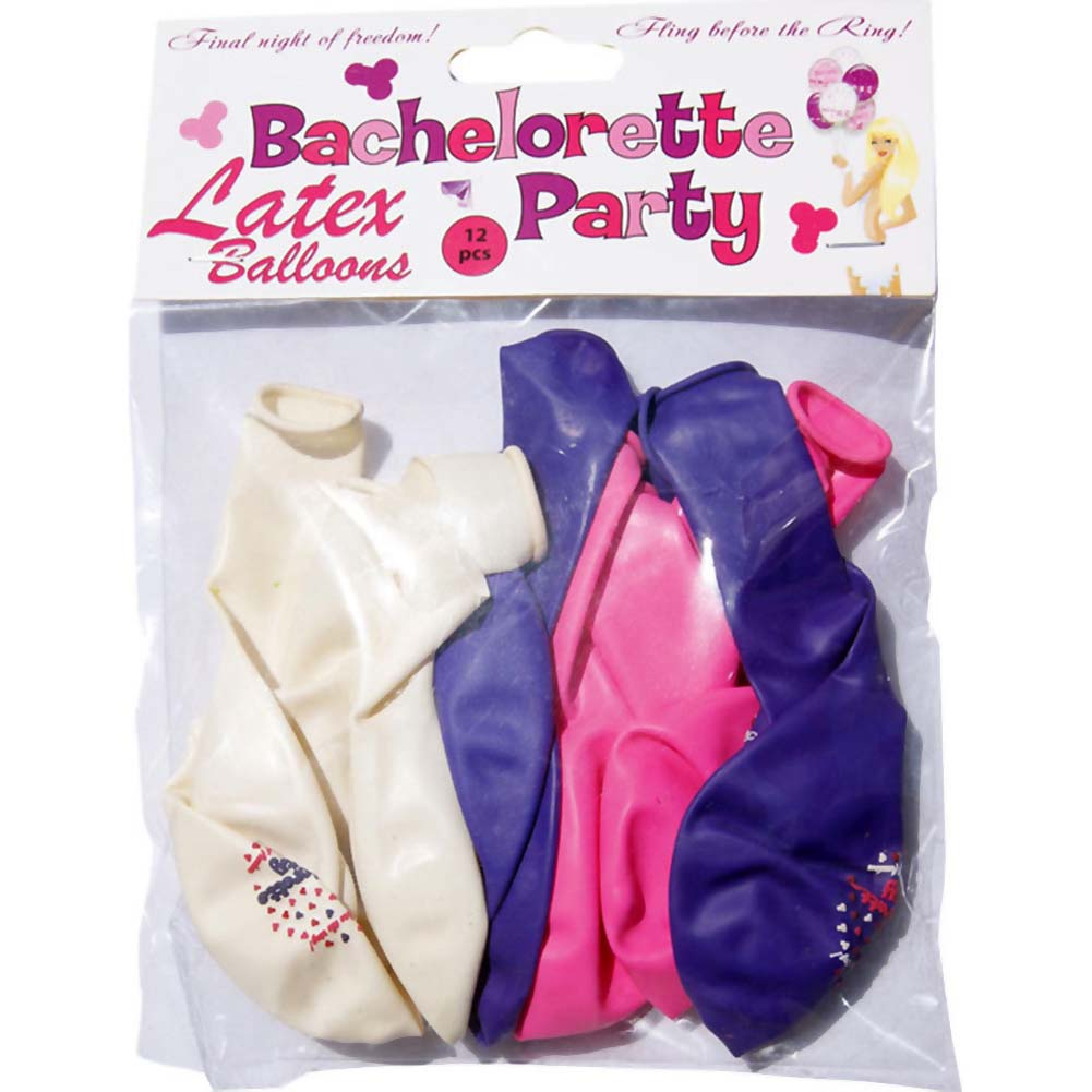 Bachelorette Party Latex Ballons 24 Pieces Assorted Colors - View #2