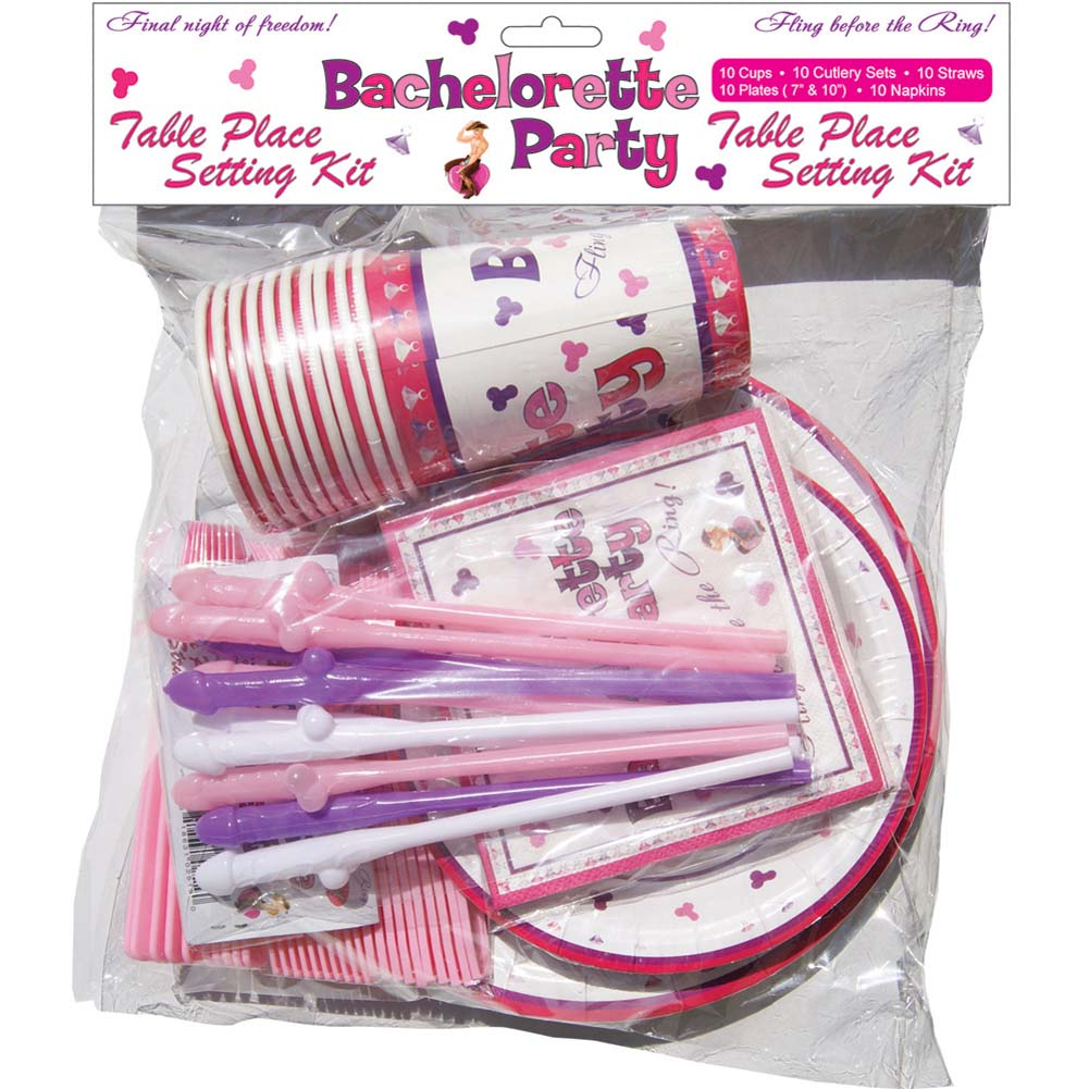 Bachelorette Party Table Place Setting Kit - View #1