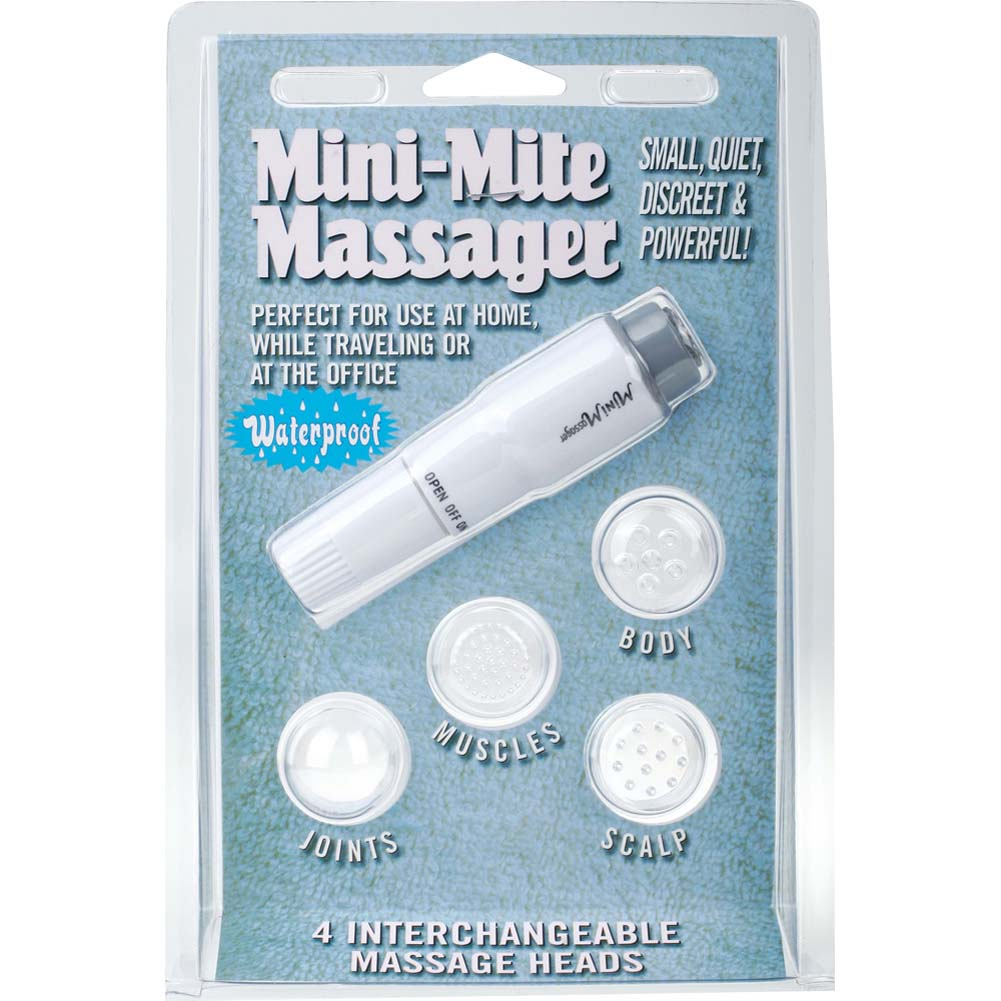 "Mini Mite Personal Waterproof Vibrator 4"" White - View #1"