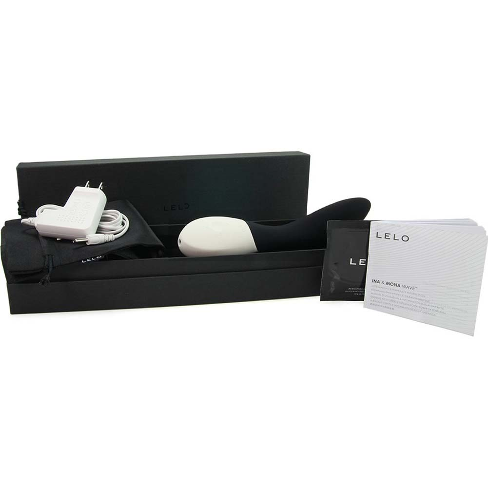 "Lelo Mona Wave Rechargeable Silicone Vibe 7.75"" Black - View #1"