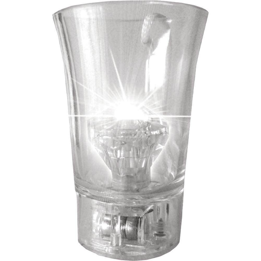Light Up Diamond Shot Glass Clear - View #2