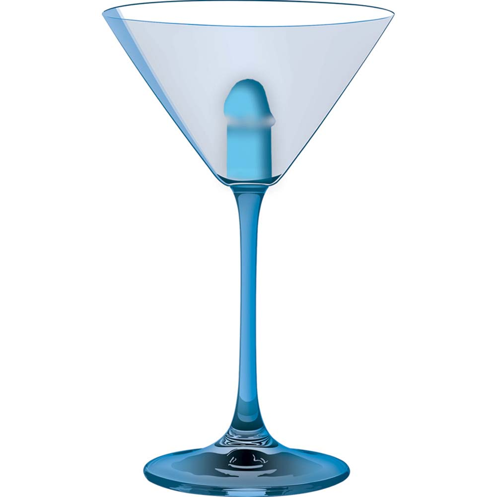 Light Up Martini Weenie Glass Blue - View #2
