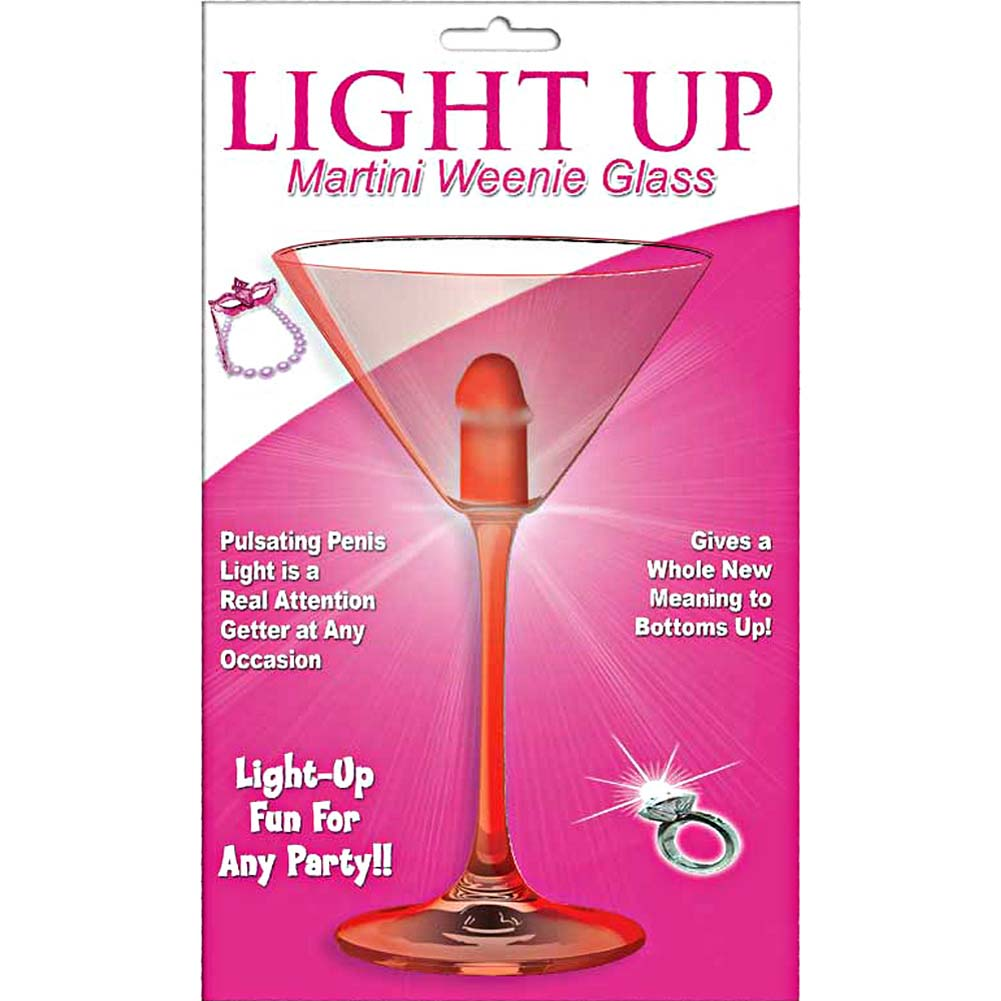 Light Up Martini Weenie Glass Red - View #1