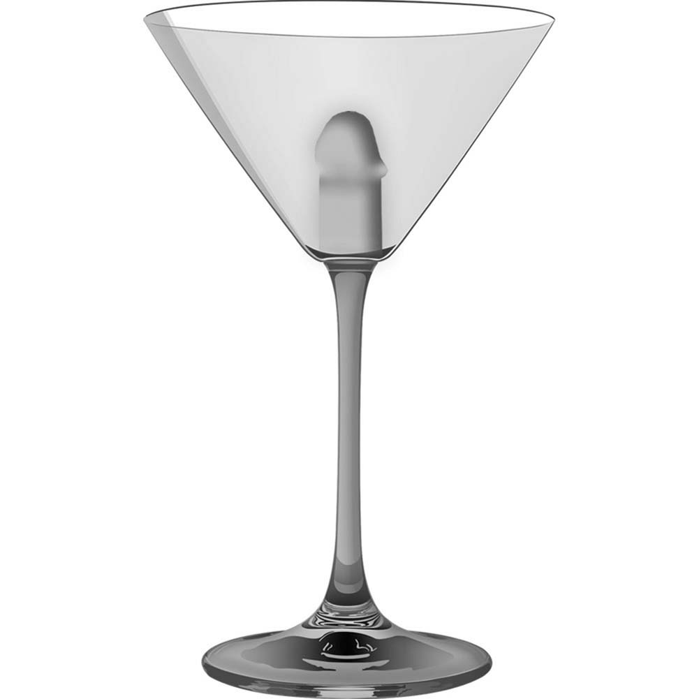 Light Up Martini Weenie Glass Clear - View #2