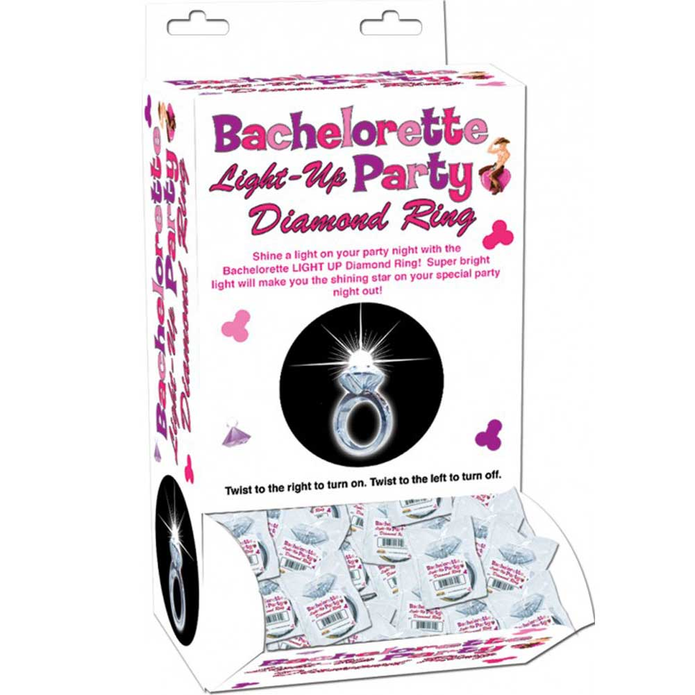 Bachelorette Party Light-Up Diamond Ring 24 Pieces Display Box - View #2