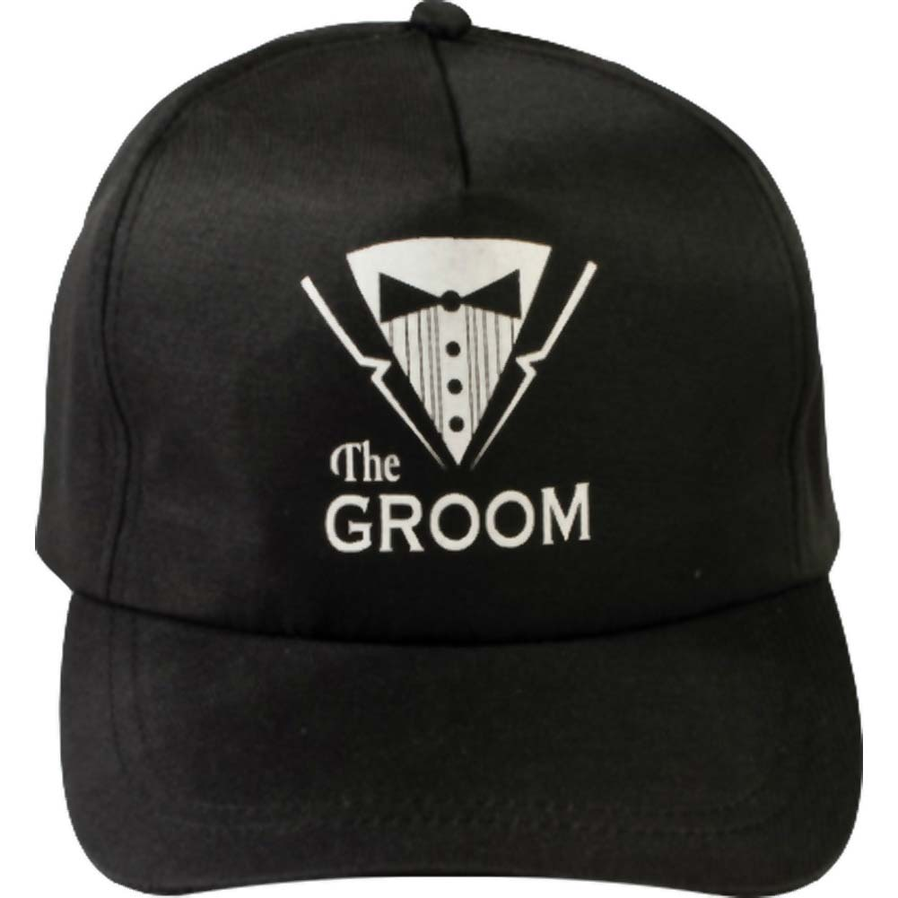 Bachelor Party Hat Groom Black - View #1