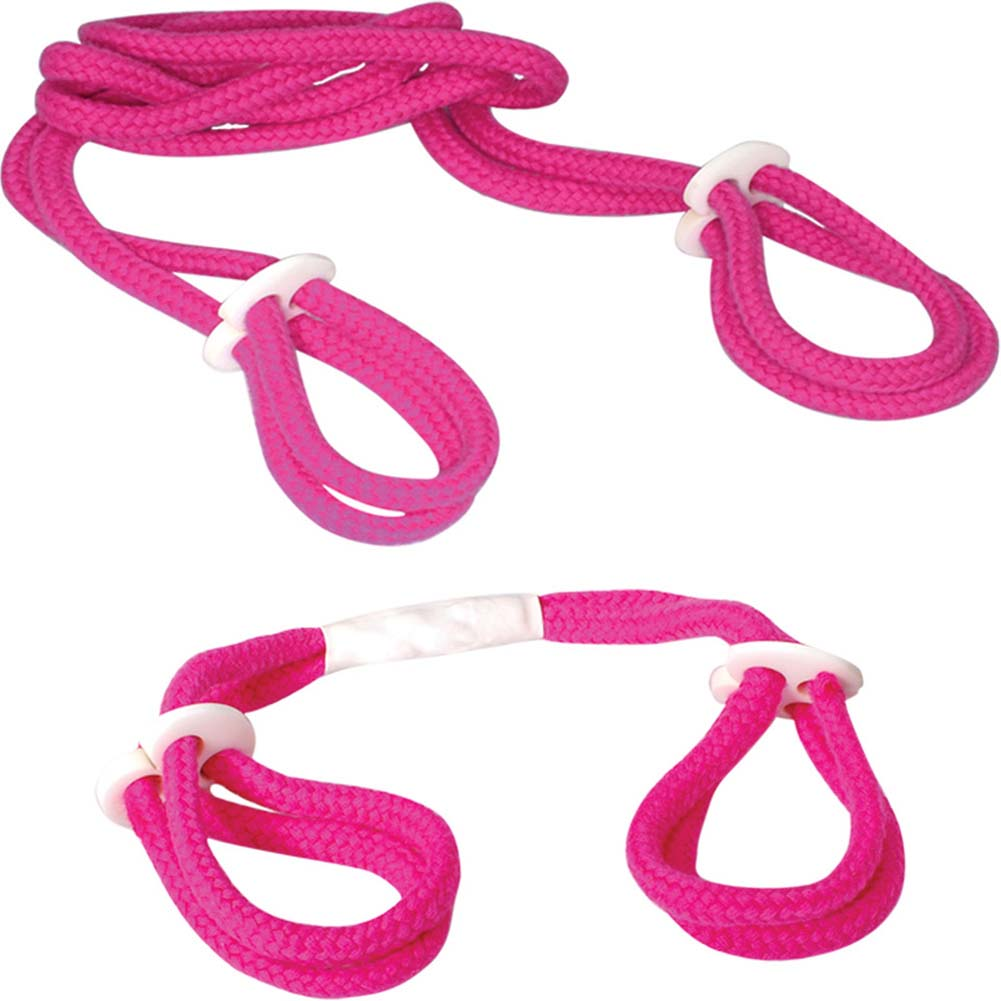 OptiSex Pink Fantasy Light Rope Cuff Set Kinky Pink - View #3
