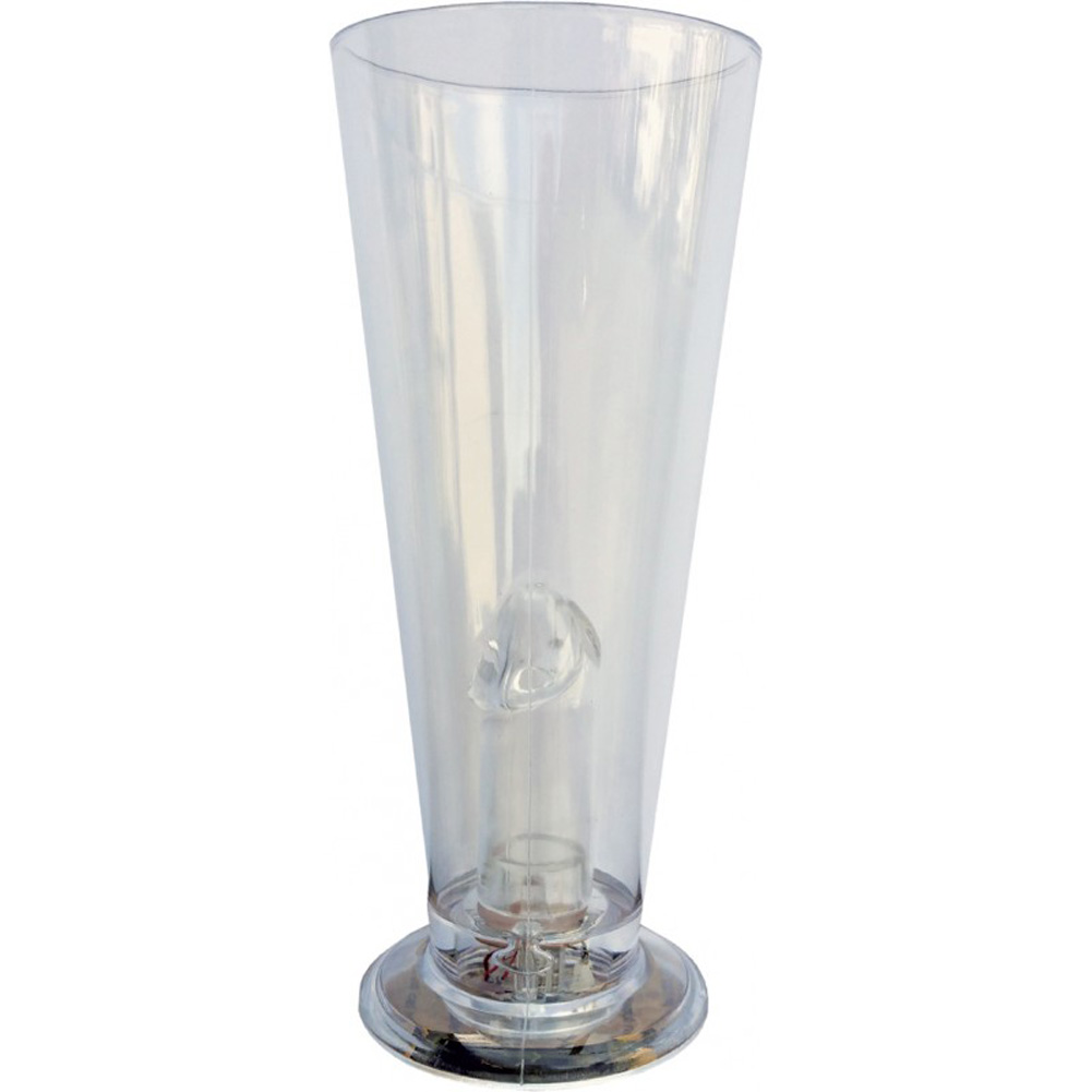 Party Pecker Light Up Beer Glass Clear - View #2