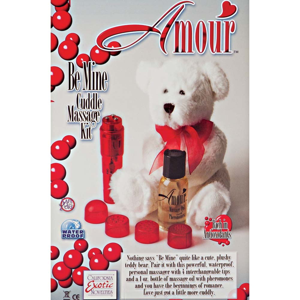 California Exotics Amour Be Mine Cuddle Massage Kit Red - View #1