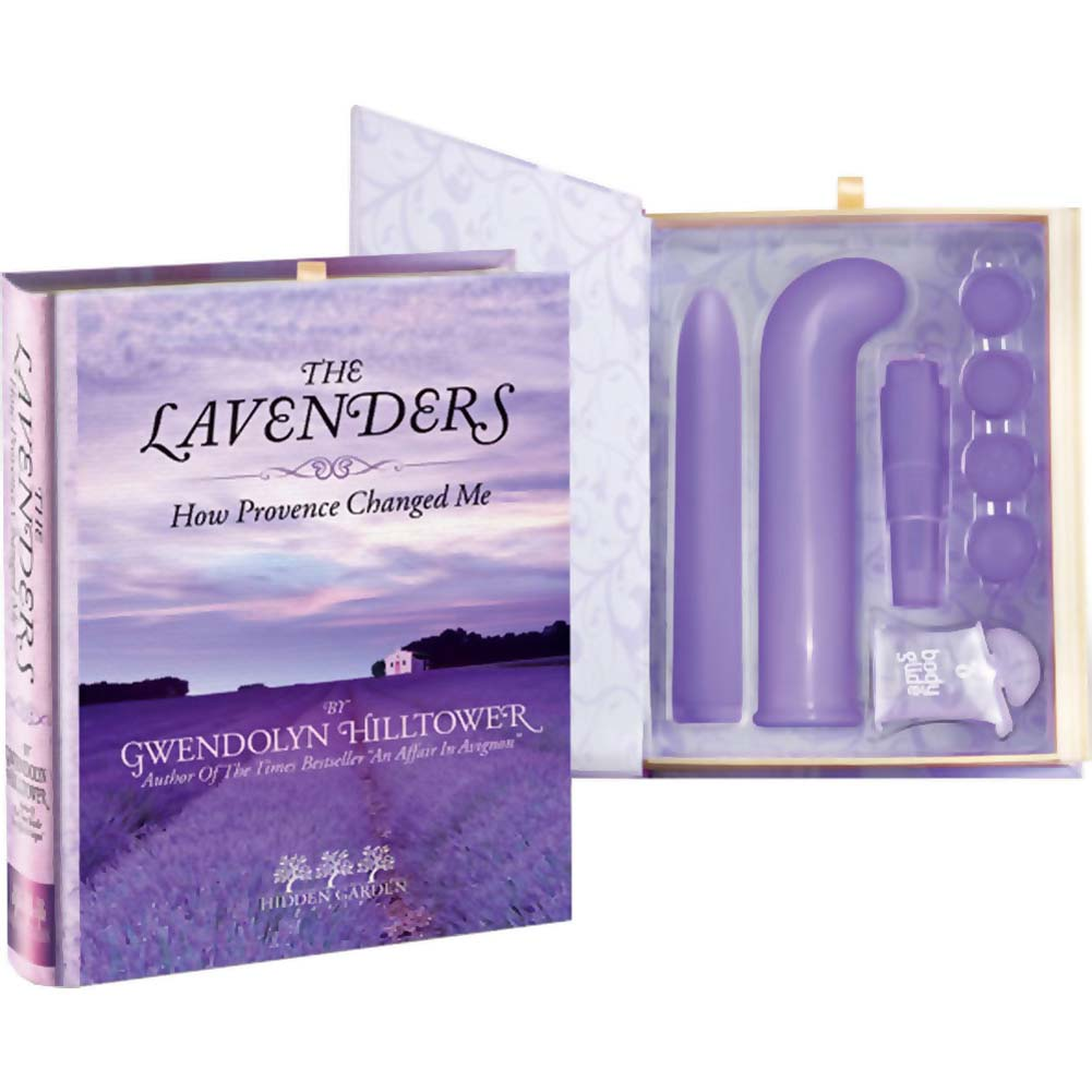 Book Smart The Lavenders Hidden Sex Toy Kit in a Magnetic Book - View #2