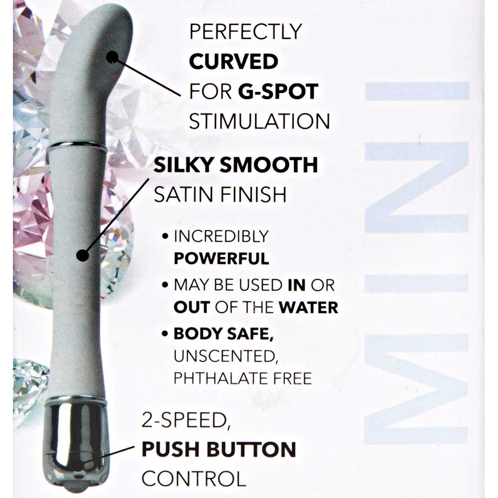 "California Exotics Lulu Satin Scoop Waterproof G-Spot Vibrator 6"" White - View #1"