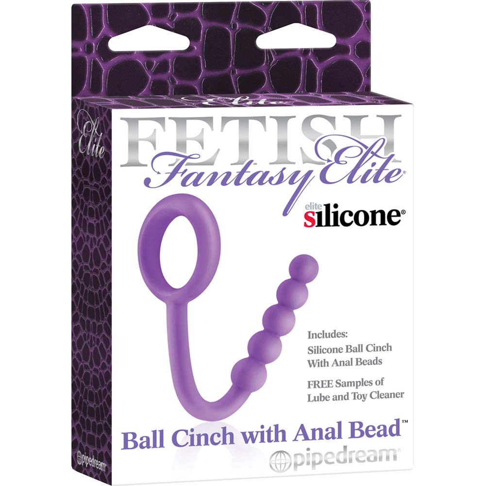 Fetish Fantasy Elite Ball Cinch with Anal Bead Purple - View #3