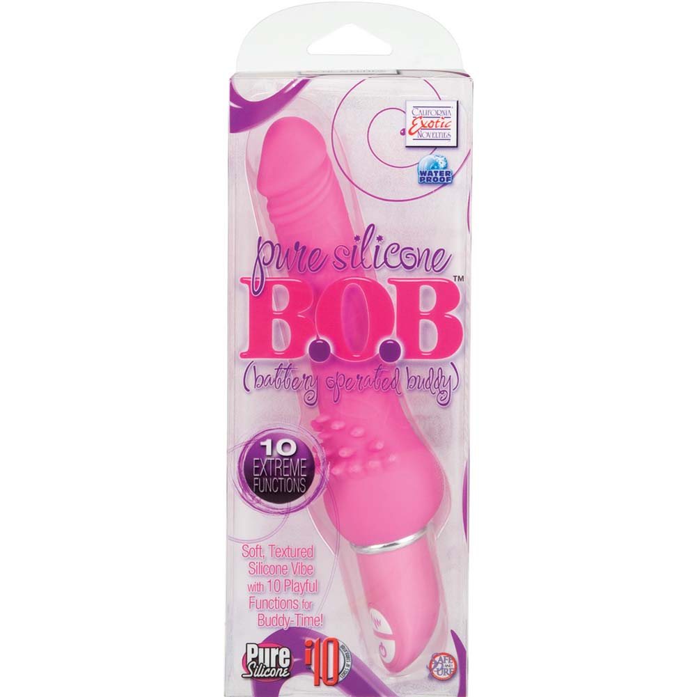California Exotics Pure Silicone B.O.B. Battery Operated Buddy Pink - View #4