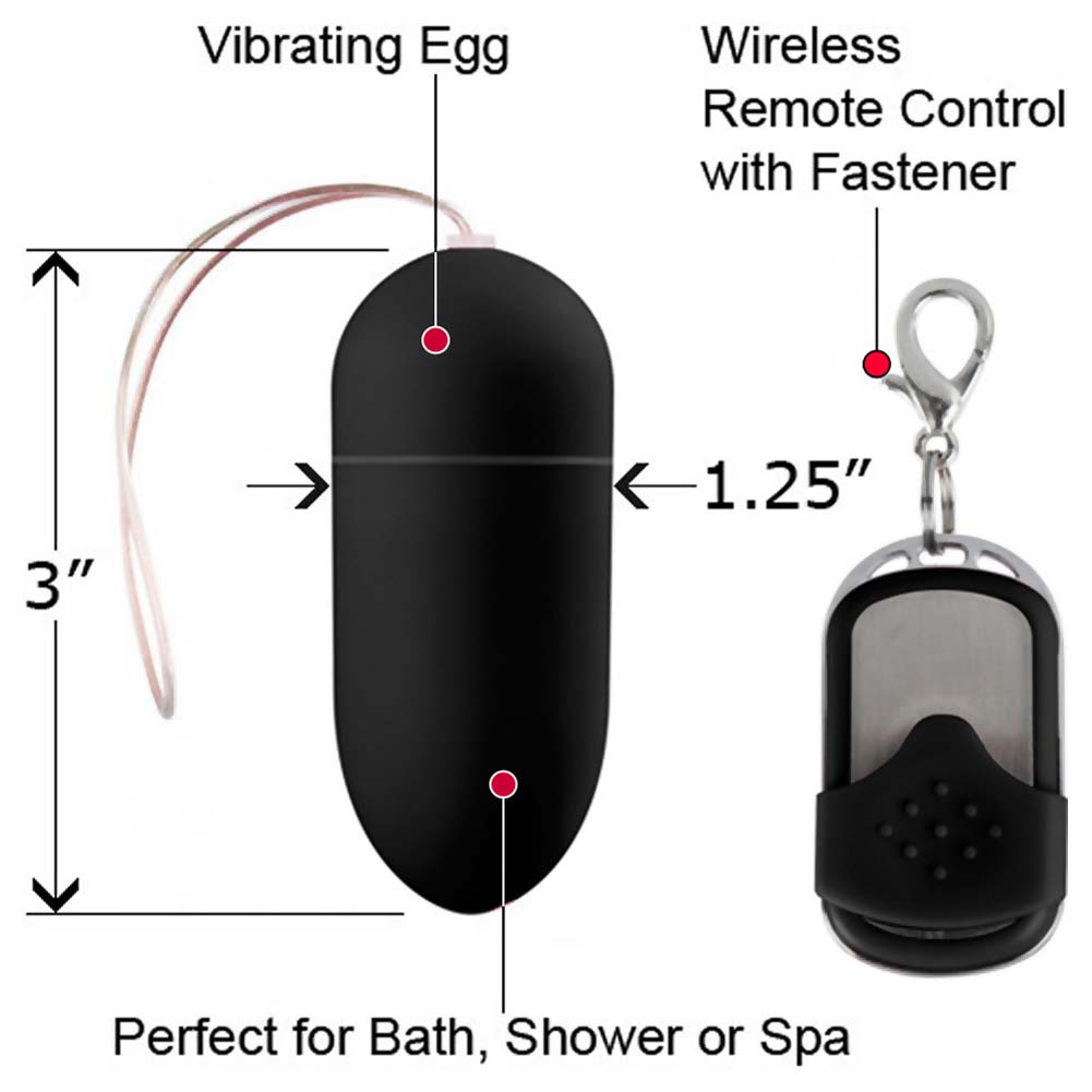 Shots Toys 10 Speed Wireless Remote Controlled Vibrating Egg Black - View #1