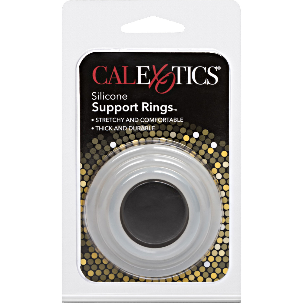 Silicone Support Rings for Men 3 Per Pack Clear - View #1