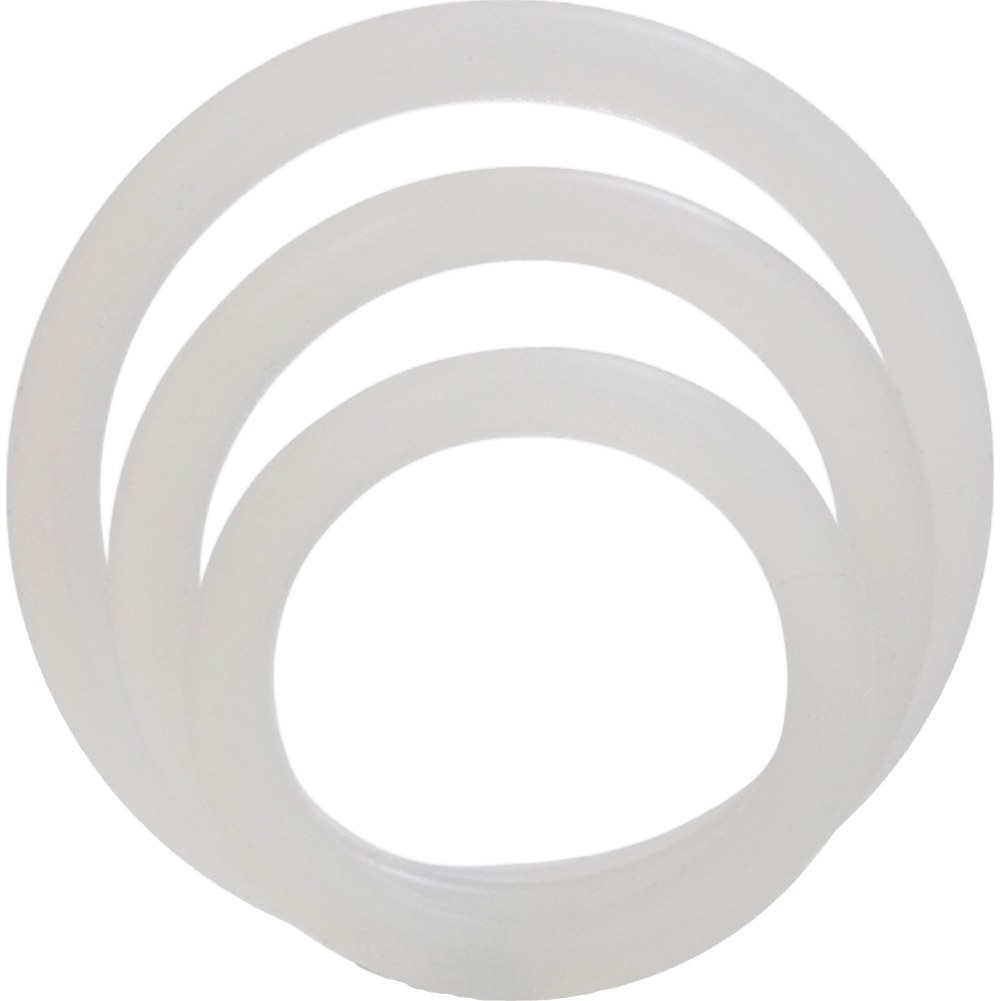 Silicone Support Rings for Men 3 Per Pack Clear - View #3