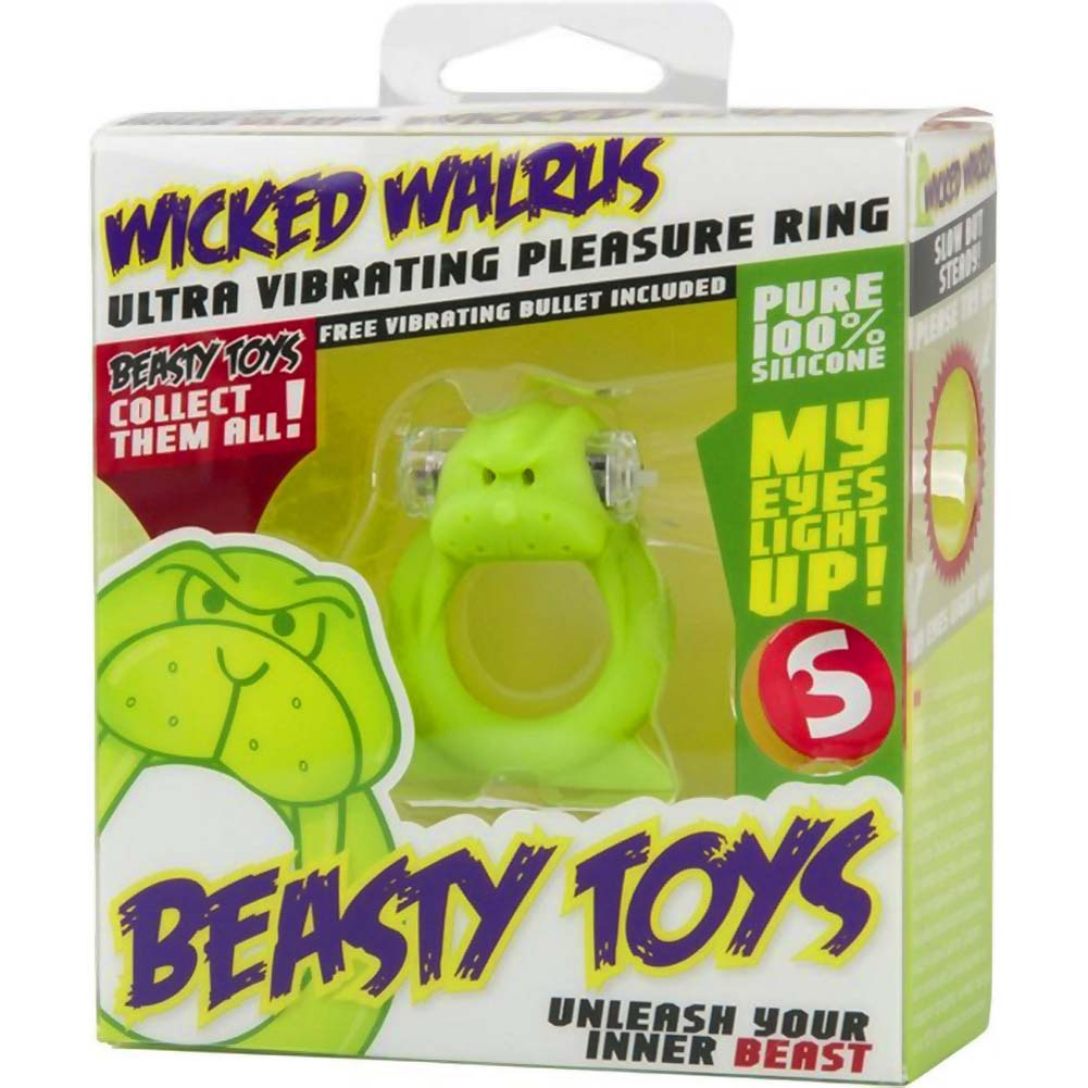 Shots Toys Beasty Toys Vibrating Silicone Cockring Wicked Walrus - View #2