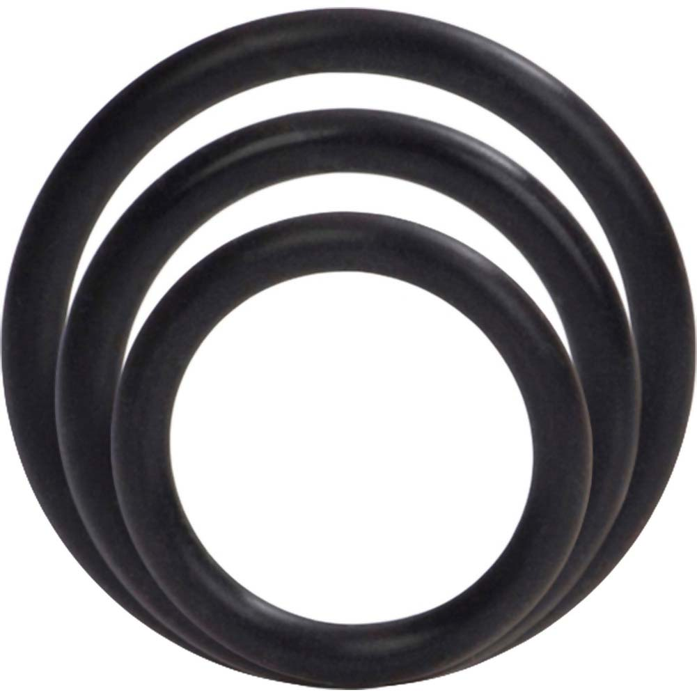 Silicone Support Rings for Men 3 Per Pack Black - View #3