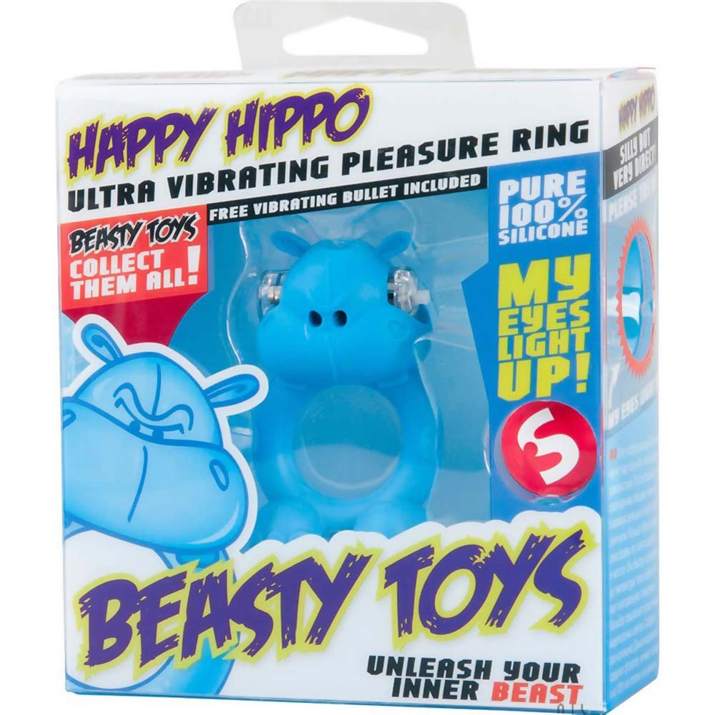 Shots Toys Beasty Toys Vibrating Silicone Cockring Happy Hippo - View #1